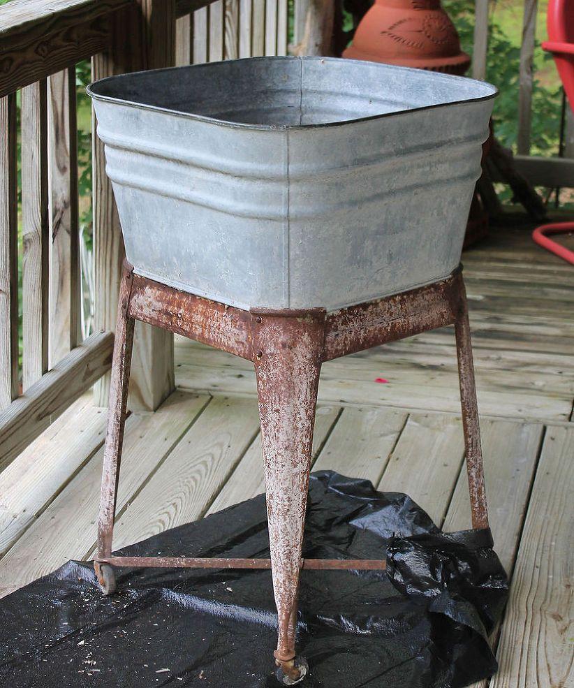 Painted Garden Potting Wash Tub Wash Tubs Galvanized Tub Galvanized Wash Tub