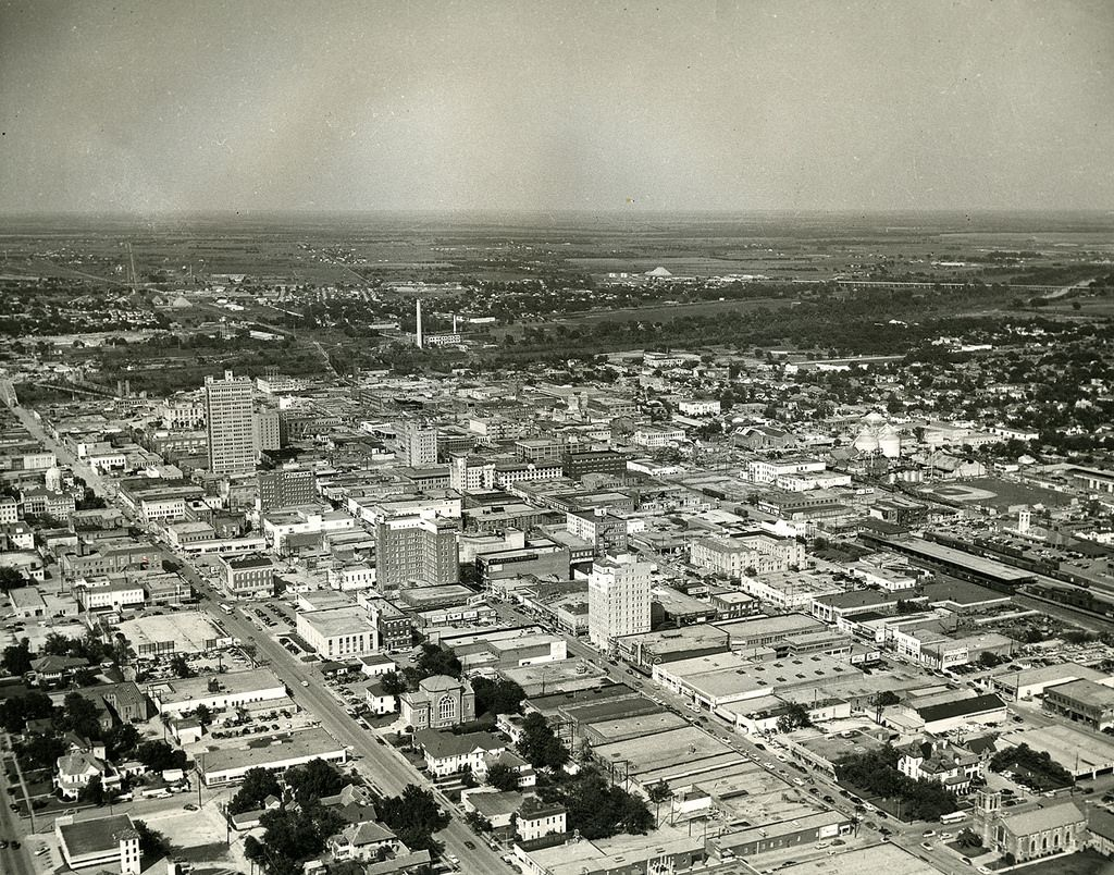 Aerial View Of Downtown Waco Tx Late 1953 Aerial View Waco
