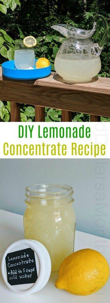 Mel's DIY Lemonade Concentrate Recipe #easylemonaderecipe