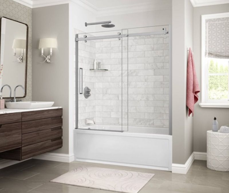 Utile Shower Wall Panels Install Tiles In Your Shower In Just One Day Shower Tub Shower Wall Panels Bathtub Walls