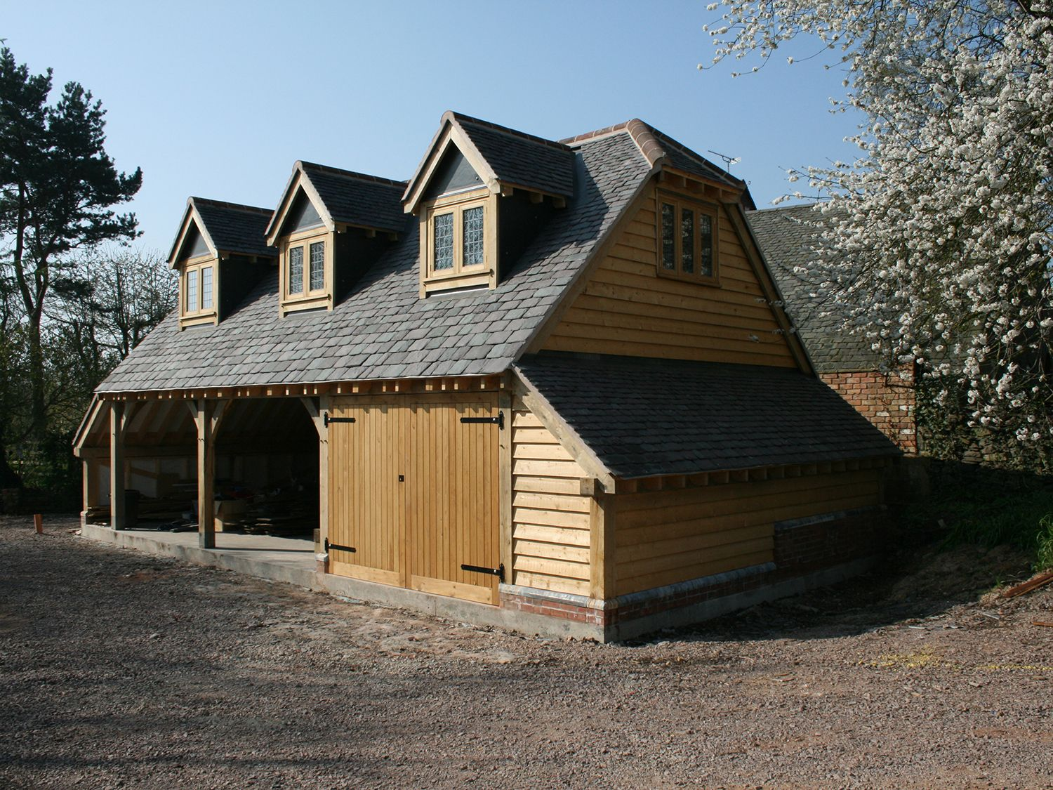 3 Bay Garage with Room Above Shires Oak Buildings in