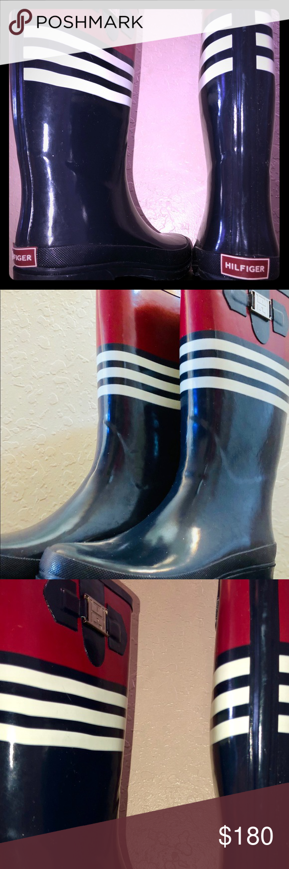43048f51464f8 Rain boots 12 in (Calf level) TOMMY HILFIGER RAINBOOTS WORN ONCE LIKE NEW  Tommy Hilfiger Shoes Winter   Rain Boots