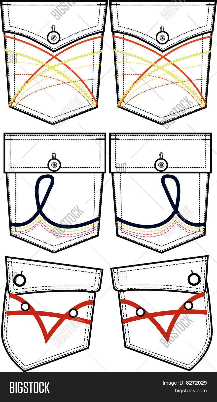Bolsillos de pantalones vaqueros para hombre nuevo | dibujo tecnico ...