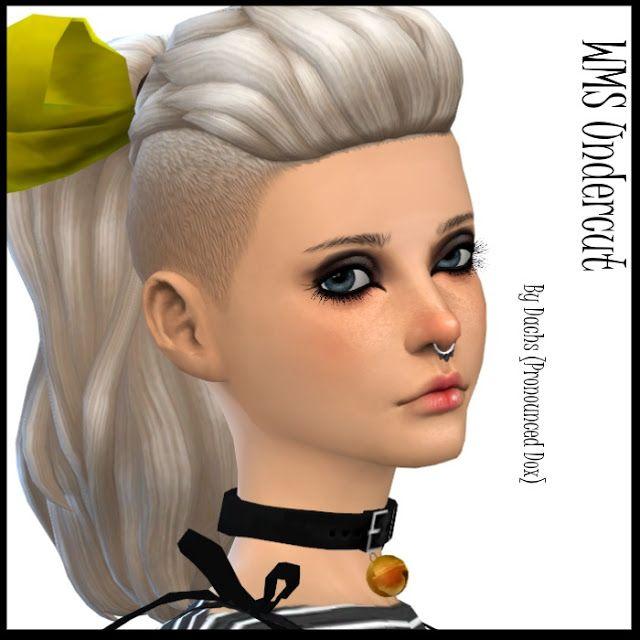 Sims 4 Updates: Dachs Sims - Hairstyles : WMS Undercut pony, Custom ...