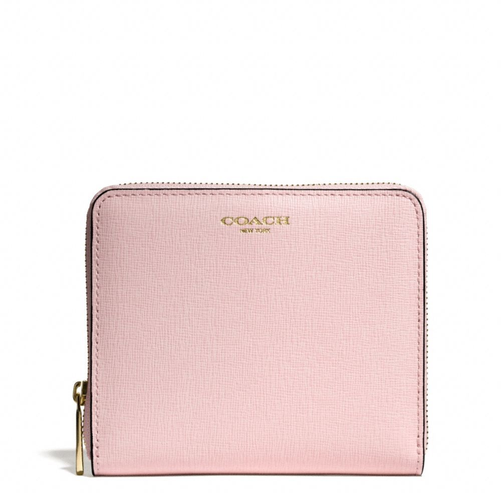 The Medium Continental Zip Wallet In Saffiano Leather from Coach - LOVE  THIS PINK!