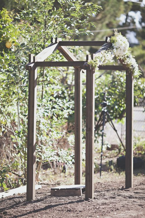 Pin By Jenny Lucinda On Backyard Rustic Wedding Wooden Wedding Arches Wedding Arch Rustic Wedding Arch