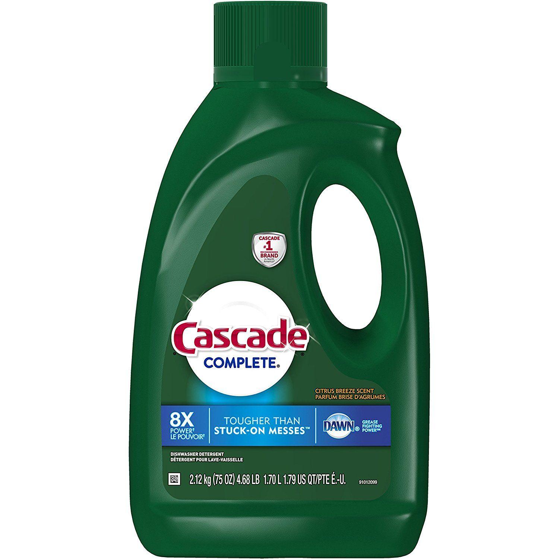 Cascade complete gel dishwasher detergent citrus breeze