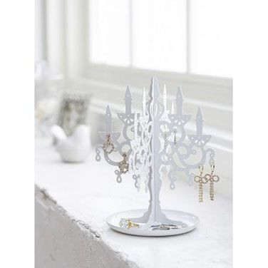 Display all your lovely earings and jewelry on this elegant Chandelier Stand!  You can now keep everything organized and easily select your jewelry at a glance.