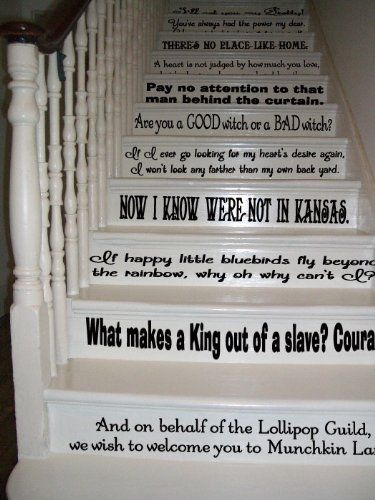 Nice Wizard Of Oz Quotes Assorted Sayings Vinyl Wall Decal Or Stairs Decal Girly  Momma Designs,