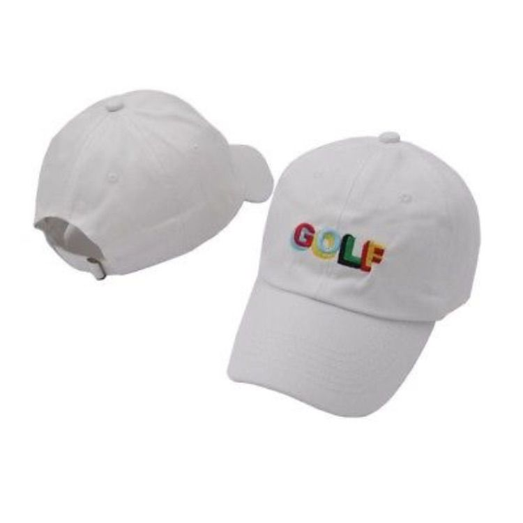 White Golf Tyler the creator dad hat  7c18a8e0e6c3