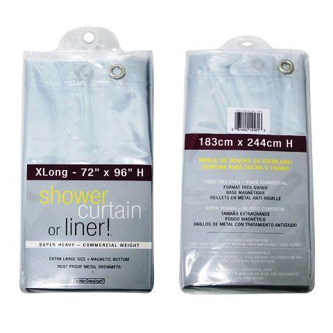 Extra Long Shower Curtain Liner 96 Long 20 95 Long Shower