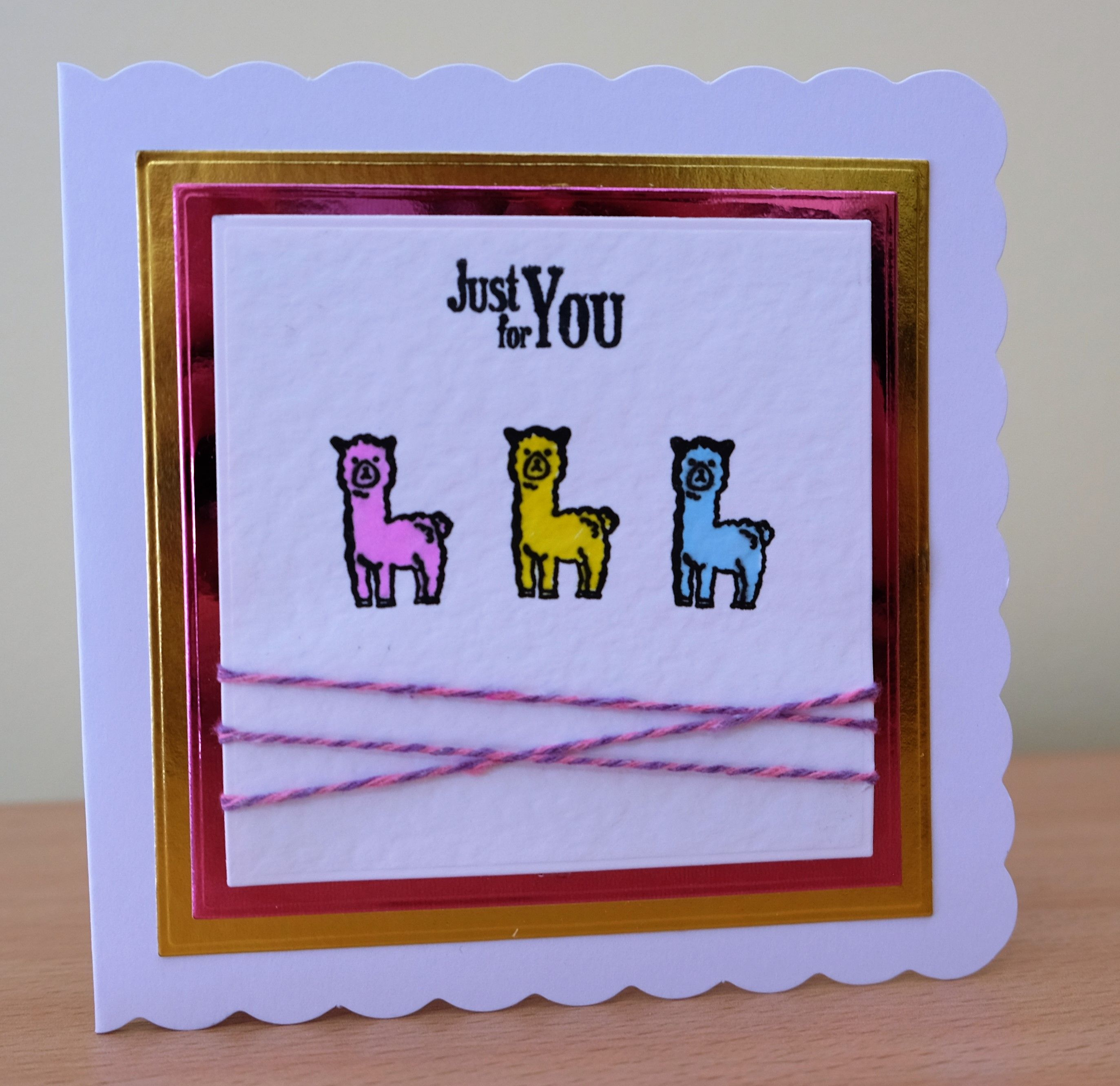 Handmade Birthday Card Alpaca Stamp For More Of My Cards Please