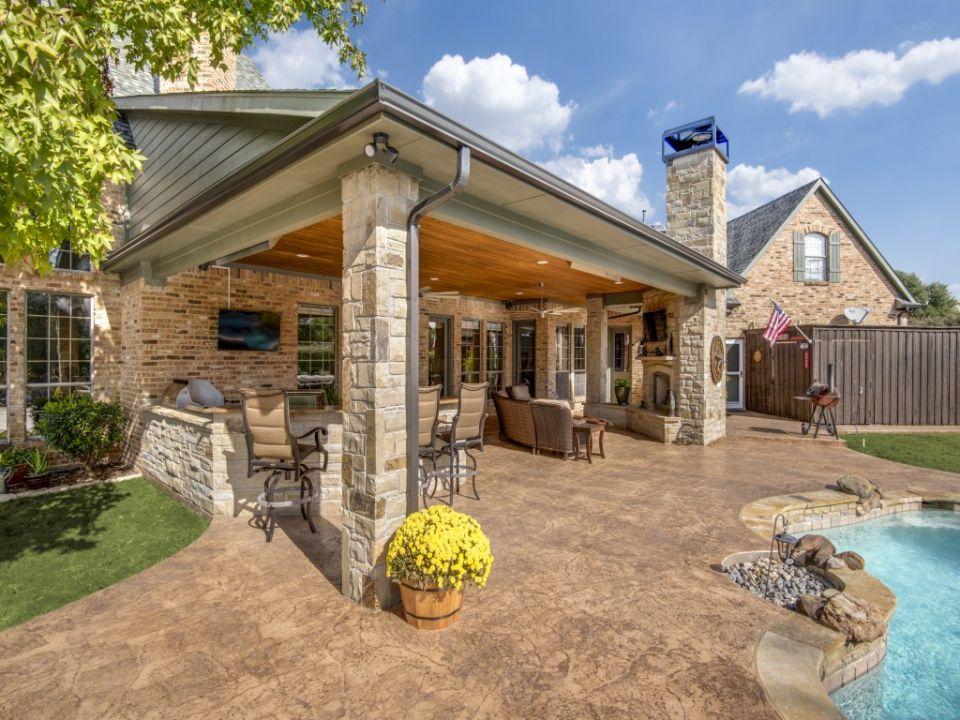 Outdoor Living In Prosper Outdoor Living Backyard Patio Designs Outdoor Rooms