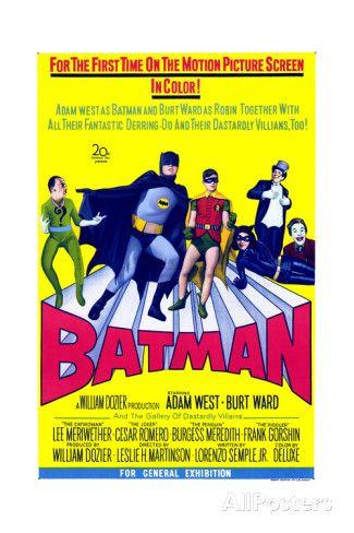 """BURT WARD MOVIE POSTER 12/"""" x 18/"""" 1966 BATMAN THE MOVIE ADAM WEST"""