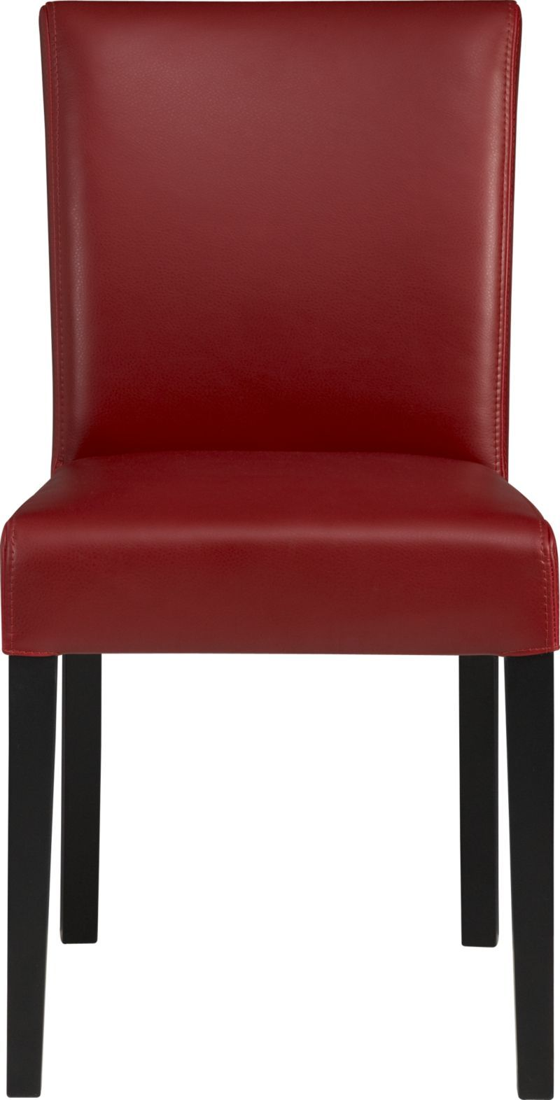 Lowe Red Leather Side Chair In Dining Chairs Crate And Barrel Leather Side Chair Chair Modern Dining Chairs