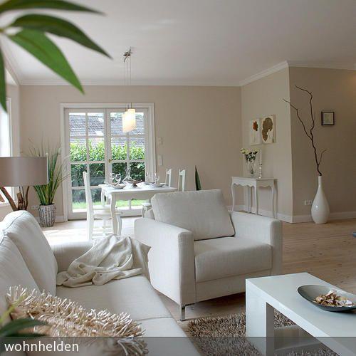 gemütlicher wohn-essbereich | landhäuser, wohnen und wohnzimmer - Wohnzimmer Farben Landhausstil