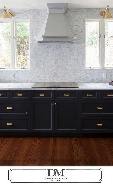 Gray Kitchen Features Dark Gray Cabinets Painted Benjamin
