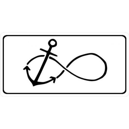 Anchor With Infinity Symbol Photo License Plate Lpo1757 Infinity