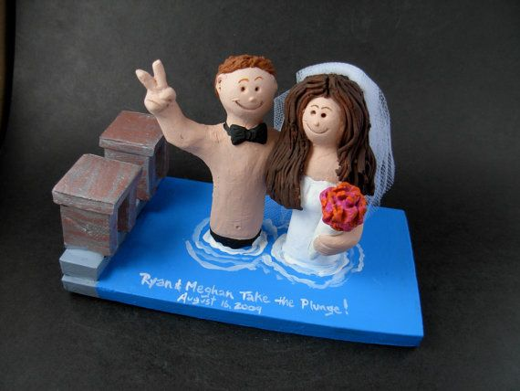 Swimming Pool Wedding Cake Topper Swimming Wedding Cake