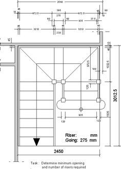 Best Stair Dimensions Floor Plan In Feet Com Imagens Escada 400 x 300