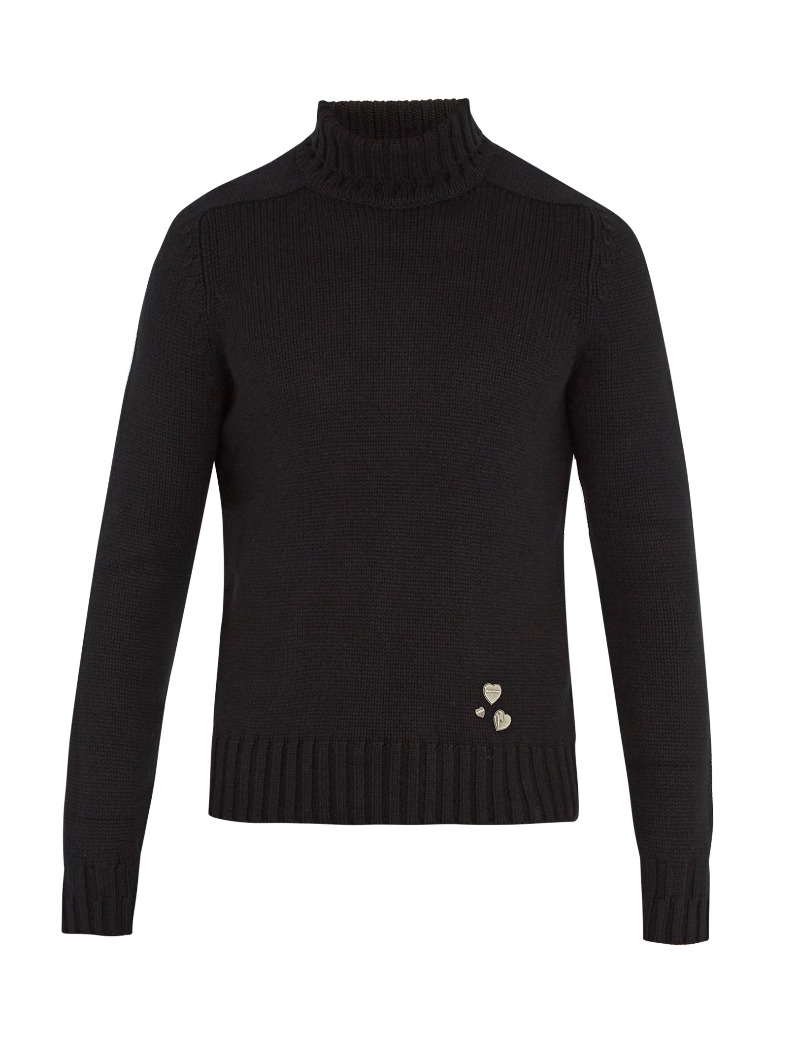 Click here to buy Saint Laurent Pin-embellished roll-neck cashmere ...