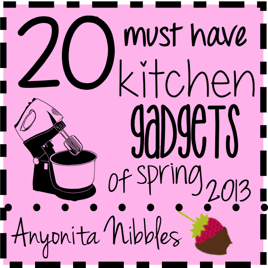 20 Must Have Kitchen Gadgets of Spring 2013 is part of Must have kitchen gadgets, Kitchen gadgets, Kitchen gadgets uk, Kitchen remodel, Toy kitchen, Kitchen - Please vote for me! It's spring! And that means time for cherry trees blossoms, sipping wine barefoot outside as the sun sets, longer days, gentle breezes and spring cleaning  In my house, spring cleaning is always a good excuse for updating worn and outofdate kitchen gadgets  So here's a list of my ultimate favorite kitchen gadgets for Spring 2013  There are some real treasures on this list! A huge thank you to all the PR contacts and companies who got in touch and helped make this list possible! Before we get to the list, could I trouble you to click that beautiful badge to the left and vote for me to win a BiB award, please  I'd much appreciate it! In no particular order, 20 Must Have Kitchen Gadgets of Spring 2013 And a bonus piece We're so social! Why not connect with us