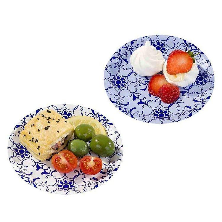 Unos platos de papel muy sofisticados