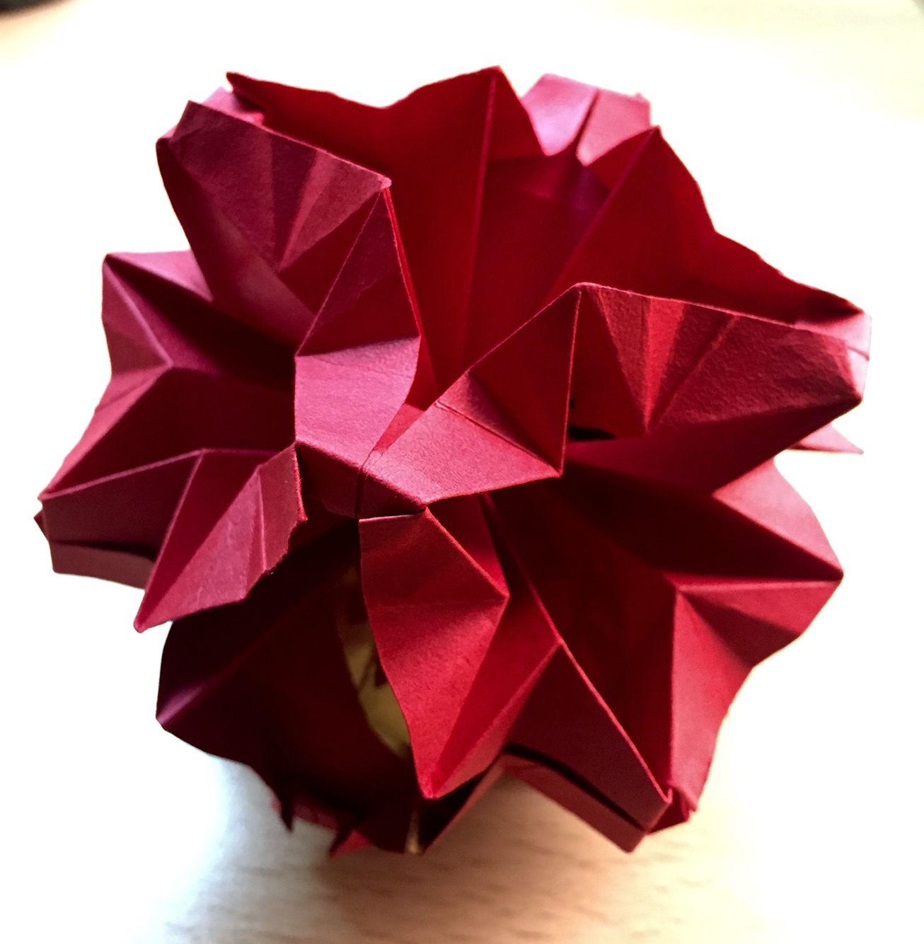 Origami Flower Ball Origami Pinterest Origami Origami Flowers