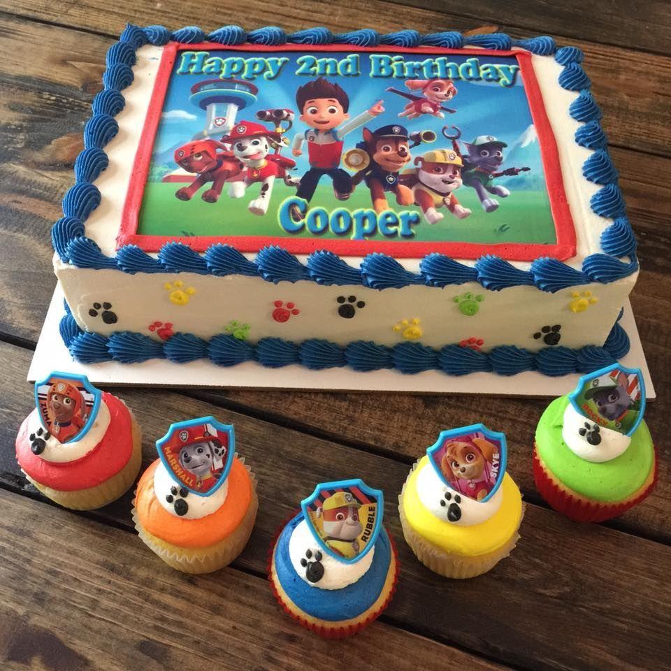 Paw Patrol Birthday Cake And Cupcakes Pensacola Florida Kates
