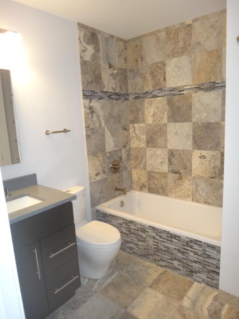 Diy Backsplash Ideas Bathroom : Love the idea of tile on tub but i whole