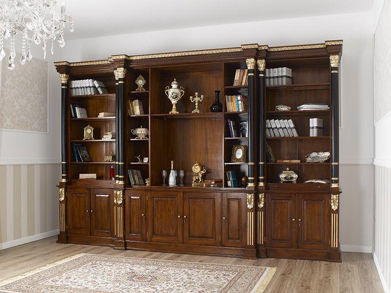 Ufficio Stile Inglese : Libreria imperiale stile inglese ministeriale presidenziale legno