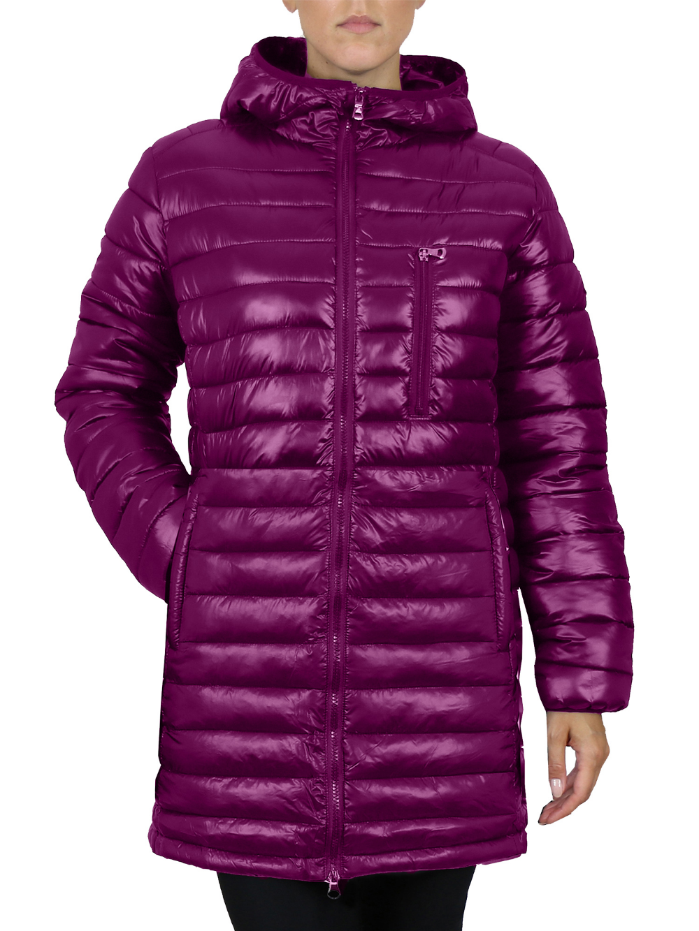 Gbh Women S Silhouette Style Puffer Jacket With Detachable Hood Slim Fit Design Walmart Com Long Puffer Jacket Puffer Jackets Jackets [ 1333 x 1000 Pixel ]
