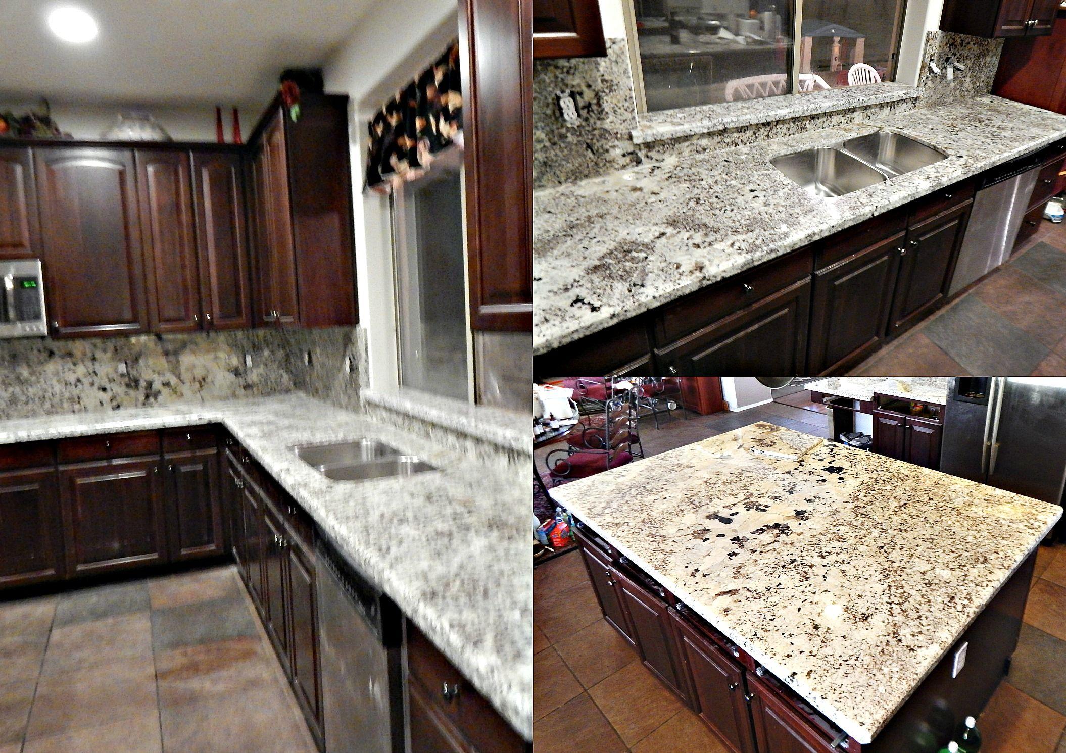 Countertop remodel with Alaska Classic granite top bevel edge 50