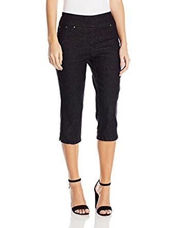 79168405b6f Ruby Rd. Women s Plus Size Pull-on Extra Stretch Denim Cropped Capri at  Amazon Women s Clothing store