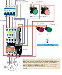 Funcionamiento De Un Contactor Con Pulsadores Normalmente Abierto Y Normalmente Cerrado Motor Trifasico Esquemas Electricos Imagenes De Electricidad