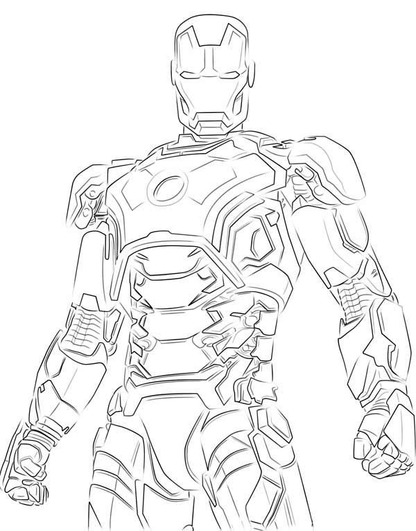 Iron Man Shinny Armour Coloring Page Netart Iron Man Art Iron Man Hulkbuster Coloring Pages