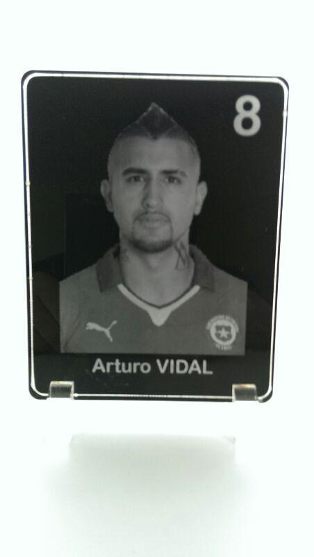 Arturo Vidal Acrylbild Lasergravur WM 2014