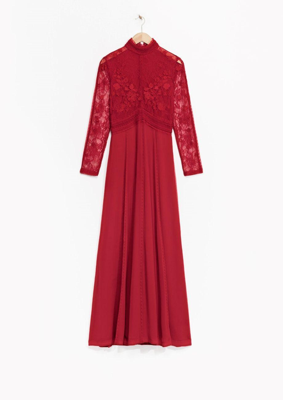 & Other Stories | Embellished Silk Dress