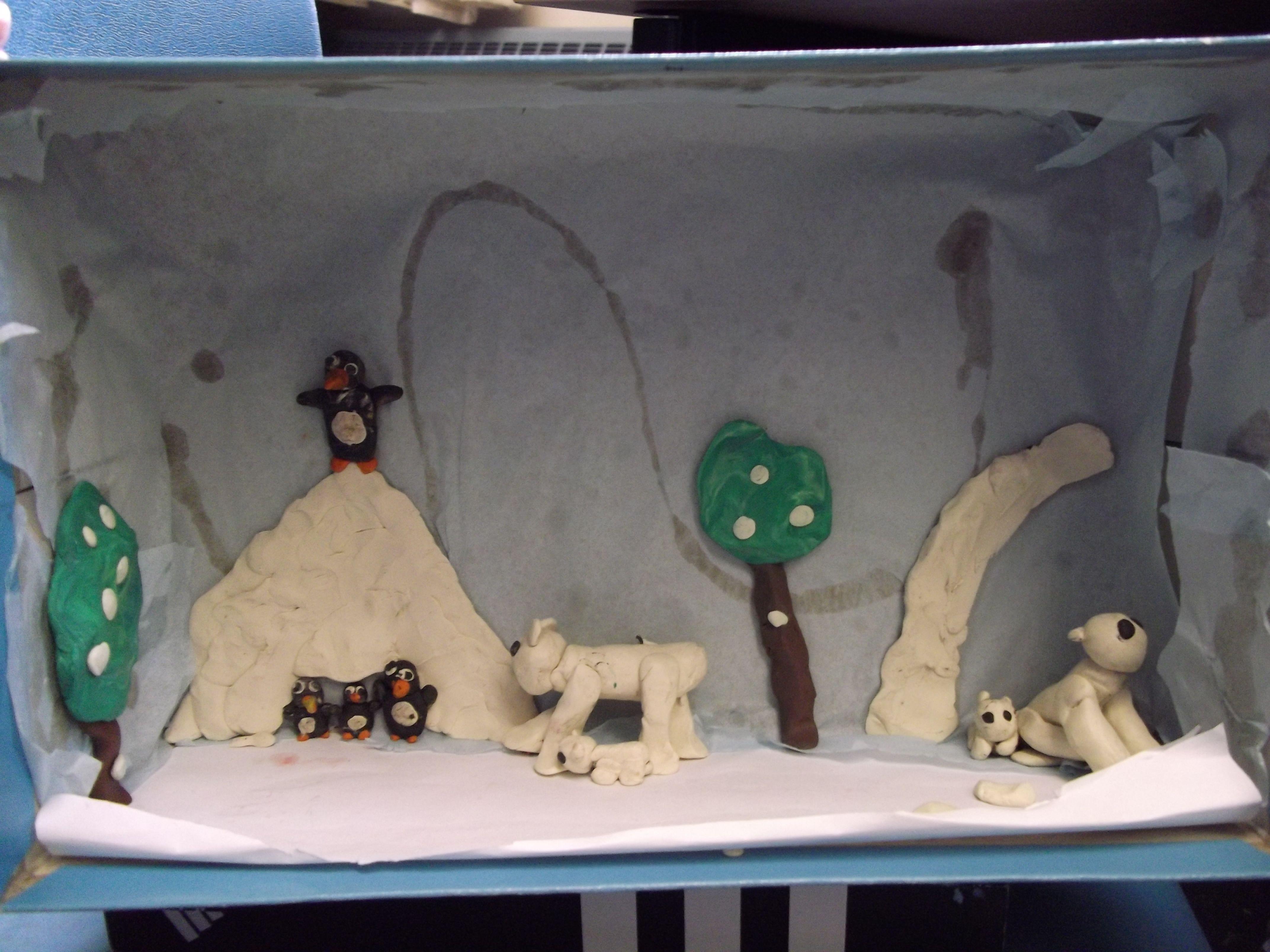 Arctic wolf diorama - photo#15