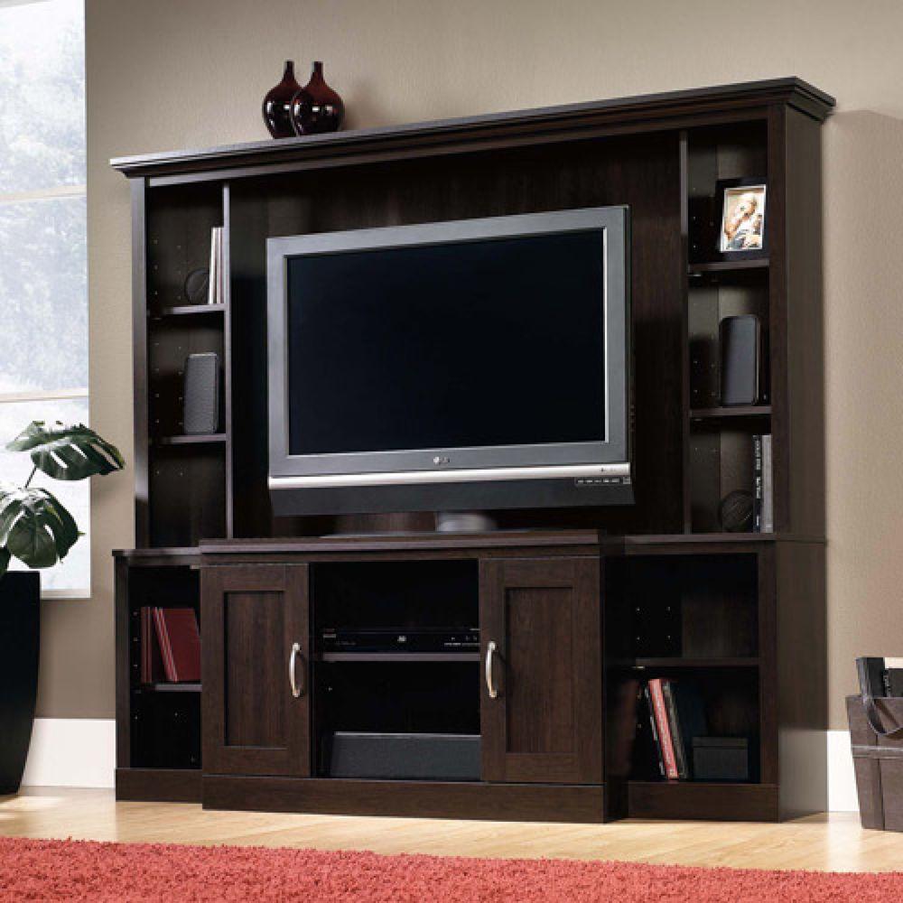 Entertainment Center Wall Unit Flat Screen TV Stand Wood ...