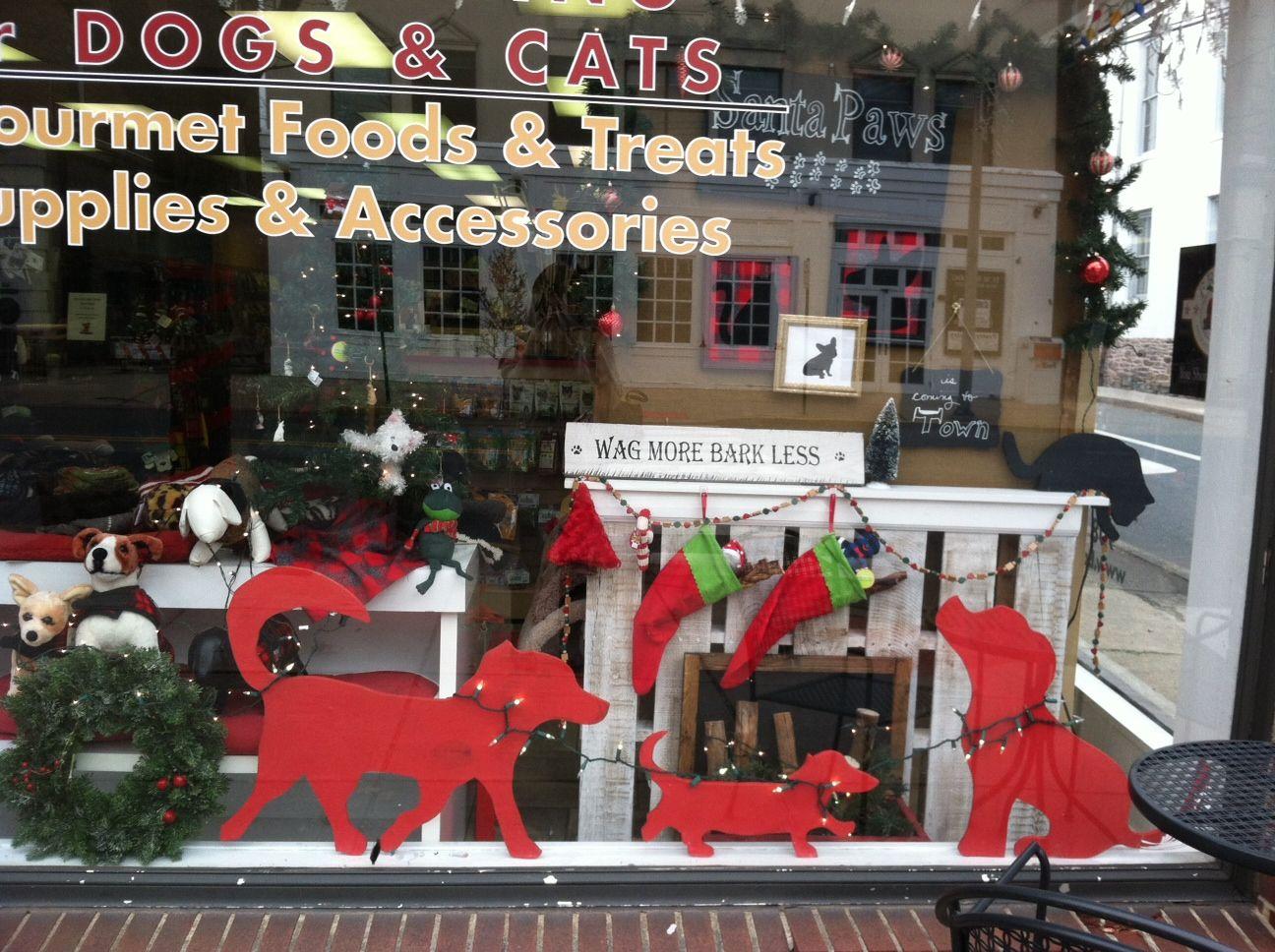 Pet store window fete deco chien chat pinterest - Le salon de toilettage petshop ...