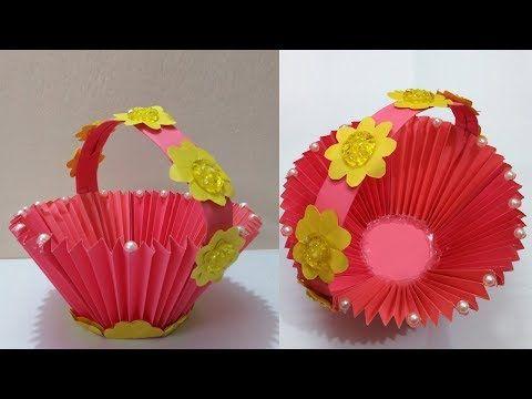 Diy Paper Basket Make Wonderful Paper Basket At Home Colour Paper