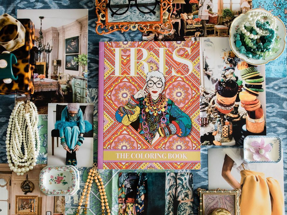 Style Icon Iris Apfel Just Launched An Autobiographical Coloring Book In 2020 Iris Apfel Coloring Books Iris