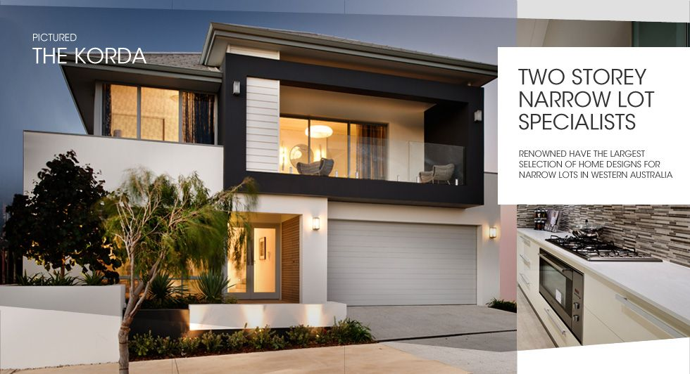 Two Storey Narrow Lot Homes Perth, Narrow Lot Builder U0026 Home Designs    Renowned Homes