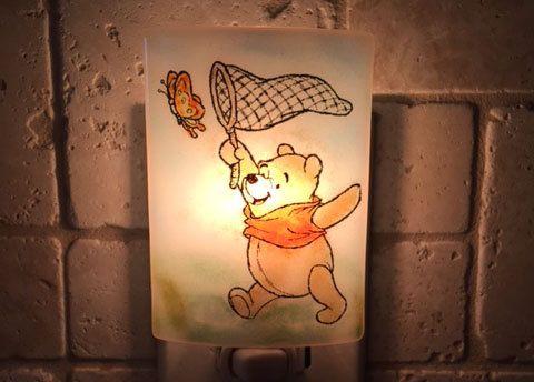 Winnie the Pooh night light  Chasing butterflies