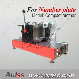 hot stamping machine for making license plate, car number plate with hot stamping foil