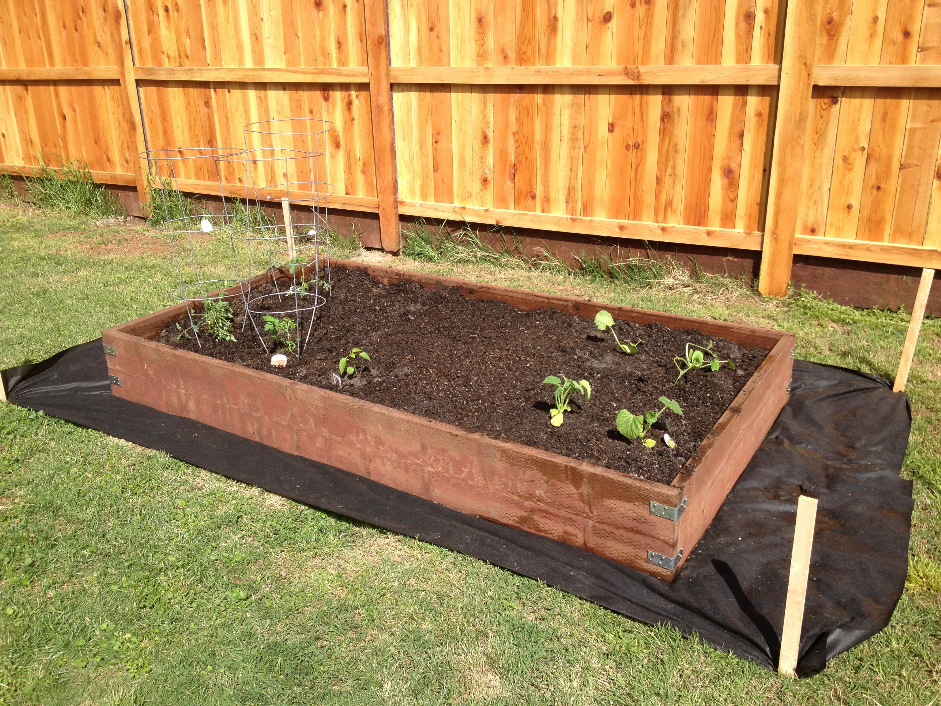 Garden Box Made Using 2x12 Pressure Treated Wood And L Brackets