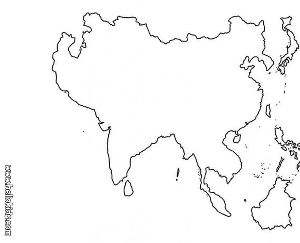 Map Of Asia Coloring Page Google Search Asia Map Coloring
