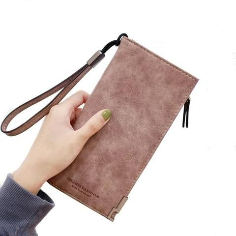 feb7694b16433e Purse Women Wallets Women's Zipper Coin Clutch Famous Brand Designer Long  Wallet Women's Purses Female Card