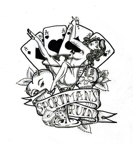 bc8862a1a Card Tattoo Designs, Tattoo Ideas, Playing Card Tattoos, Playing Cards,  Dice Tattoo